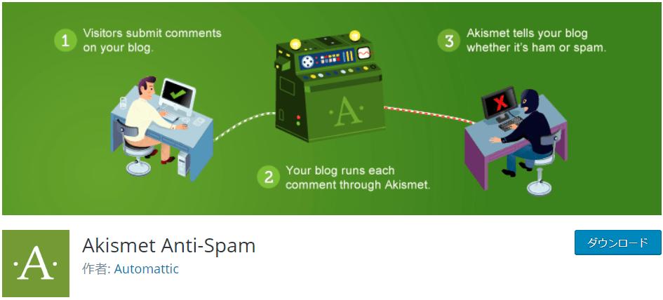Akismet Anti-Spam【スパム対策】